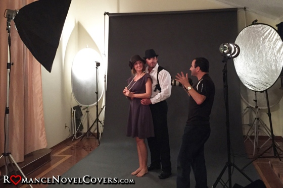 RomanceNovelCovers.com (RNC) Custom Photo Shoot - Behind The Scenes - Jimmy Thomas & Inessa - Delynn Royer